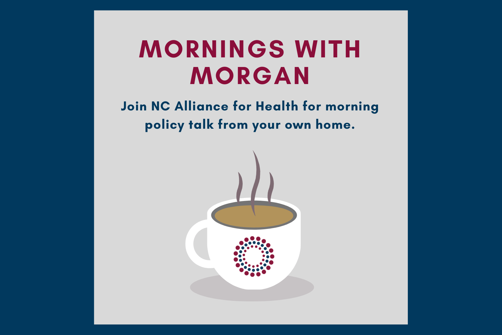 Mornings with Morgan featured image with coffee cup logo
