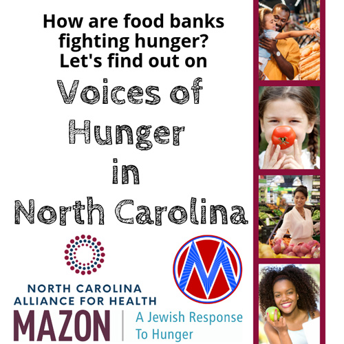 """Voices of hunger in North Carolina Cover """"How are food banks fighting hunger? Let's find out"""""""